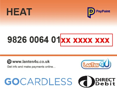Direct Debit PAYG TopUp Voucher - HeatPlus
