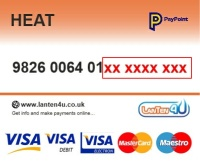 Credit/Debit Card PAYG TopUp Voucher - HeatPlus